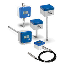 Relative humidity transmitter / duct-mount / wall-mount / industrial