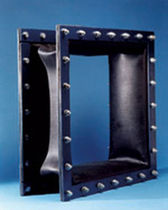 Rubber pipe expansion joint / square / screw-in / for the chemical industry