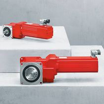 Orthogonal servo-gearmotor / bevel / helical