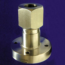 Autoclave adapter / for temperature probes / flange