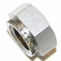 Hexagonal nut / crimp-on / stainless steel