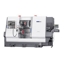 CNC lathe / 3-axis / compact / three-turret