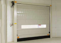 Fold-up doors / galvanized steel / industrial / indoor