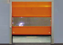 Roll-up doors / PVC / galvanized steel / indoor