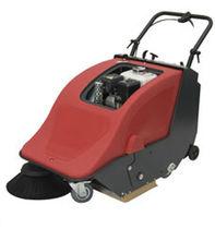 Walk-behind sweeper / gasoline / compact / outdoor