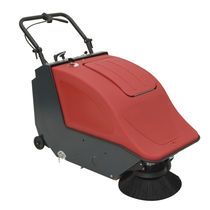 Walk-behind sweeper / battery-powered / compact