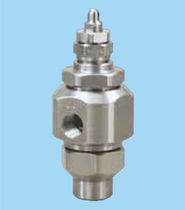 Atomizing nozzle / flat spray / stainless steel / pneumatic