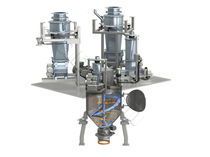 Ribbon mixer / continuous / powder / for the food industry