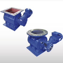 Powder rotary valve / for pneumatic conveying / square-flange / round-flange