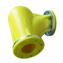 Polymer pipe elbow / for pneumatic conveying