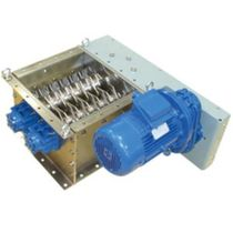 Double-roller lump breaker / horizontal / high-capacity