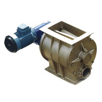 Pneumatic conveying rotary valve / square-flange / blow-through