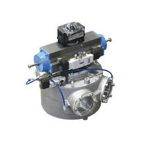 Pneumatic conveying diverter valve / round-flange / bidirectional / ATEX