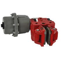 Caliper disc brake / release spring / pneumatic