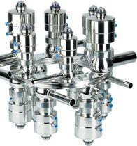 Shut-off valve / foodstuffs / modular / compact