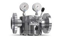 Gas pressure regulator / single-stage / dome-loaded / stainless steel