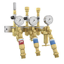 Multi-channel manifold / brass / for gas