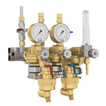 Multi-channel manifold / brass / for gas / distribution