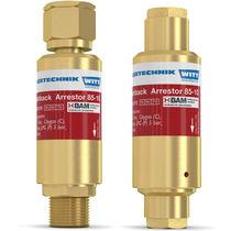 Cutting and welding flashback arrestor / for the glass industry / for pressure regulators / for hydrogen