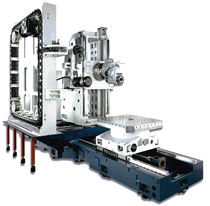3-axis CNC horizontal machining center for large parts max. 1 260 x 1 000 x 1 210 mm | EHU-Line Spinner