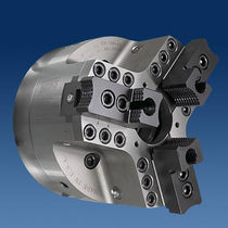 3-jaw lathe power chuck with through-hole Sure-Grip® Hardinge Workholding