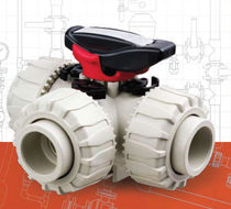3-way ball valve DN 15 - 50, max. 10 bar | TKD PP-H series FIP - Formatura Iniezione Polimeri
