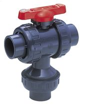 "3-way ball valve 1/2"" - 4"", 150 psi 