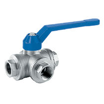 "3-way ball valve DN 1/4"" - 2""1/2, 40 bar 