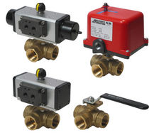 "3-way brass ball valve 1/4 - 2"", 400 psig 