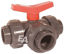 3-way plastic ball valve DN 32, PN 10 | DK series END-Armaturen GmbH & Co. KG