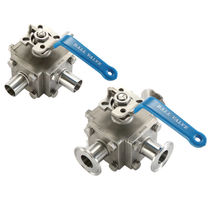 "3-way stainless steel ball valve 1/2 - 4"", 1 000 psi 