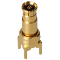 Coaxial connector / straight / bayonet / RF
