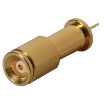 Board connector / coaxial / DIN / straight