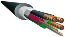 Hybrid (fiber optic/electric) cable / fiber optic / multi-conductor / chemical-resistant