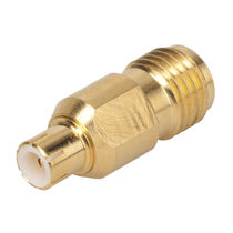Board-to-board connector / RF / cylindrical / flange