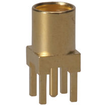 Coaxial connector / cylindrical / SMT / snap-on