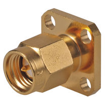 Microwave connector / cylindrical / SMA / flange