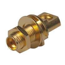 RF connector / cylindrical / flange / microwave