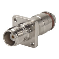 Coaxial connector / circular / threaded