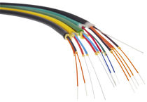 Fiber optic cable / multi-conductor / insulated / for indoor use