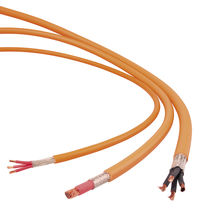 High-voltage cable / multi-conductor / insulated / for automotive applications