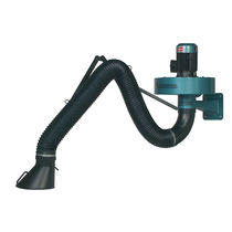 Exhaust gas extraction system / wall-mounted