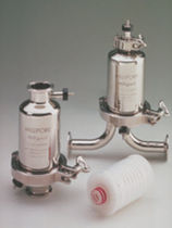 Cartridge filter housing / for fluids / stainless steel / sanitary