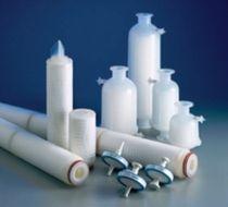 Sterilization filter cartridge / polypropylene / for liquids / membrane