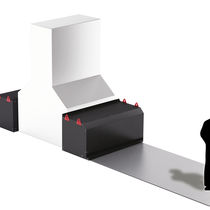 Horizontal roll-up cover / metal / for machining centers
