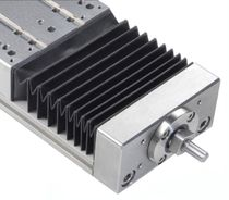 Linear guide bellows / flat / PVC / accordion protection