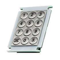 12-key keypad / panel-mount / stainless steel / IP65