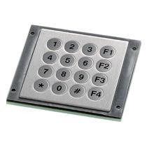 16-key keypad / panel-mount / stainless steel / IP65