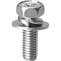 Phillips hex head bolt / with washer set