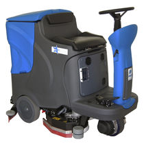 Ride-on scrubber-dryer / battery-powered
